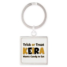 Keira Trick or Treat Square Keychain