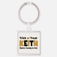 Keith Trick or Treat Square Keychain