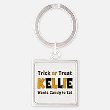 Kellie Trick or Treat Square Keychain