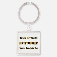 Kristopher Trick or Treat Square Keychain