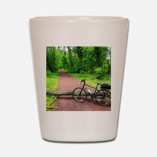 Bike Trail Shot Glass