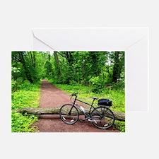 Bike Trail Greeting Card