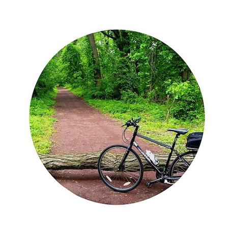 """Bike Trail 3.5"""" Button"""