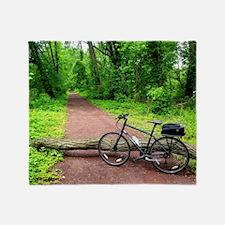 Bike Trail Throw Blanket