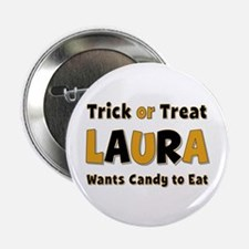 Laura Trick or Treat Button