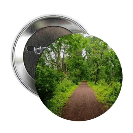 "Trail in the Woods 2.25"" Button"