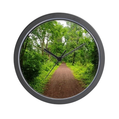 Trail in the Woods Wall Clock