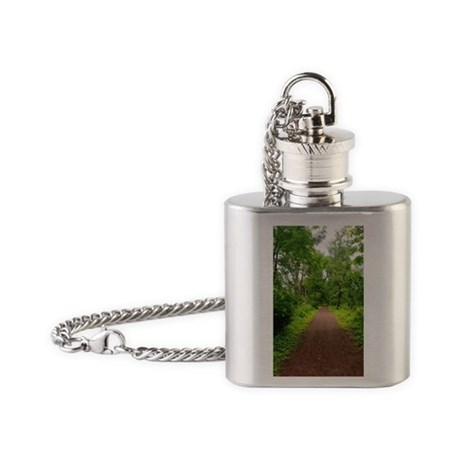 Trail in the Woods Flask Necklace