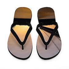 Sunset at the George Washington Bridge Flip Flops