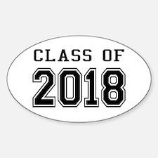 Class of 2018 Sticker (Oval)