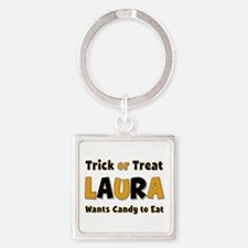 Laura Trick or Treat Square Keychain