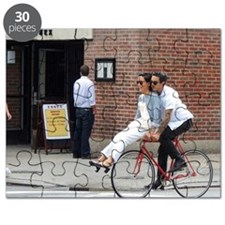 Young Couple on Bike Puzzle