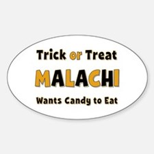 Malachi Trick or Treat Oval Decal