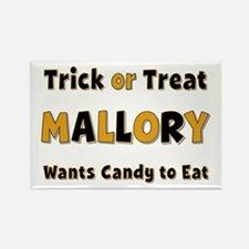 Mallory Trick or Treat Rectangle Magnet