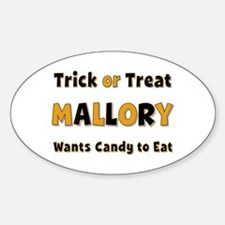 Mallory Trick or Treat Oval Decal