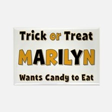 Marilyn Trick or Treat Rectangle Magnet