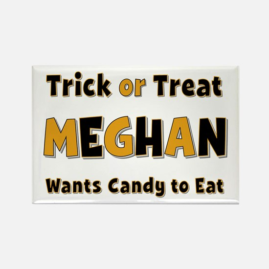 Meghan Trick or Treat Rectangle Magnet