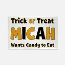Micah Trick or Treat Rectangle Magnet