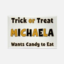 Michaela Trick or Treat Rectangle Magnet