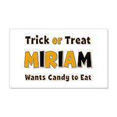 Miriam Trick or Treat 20x12 Wall Peel