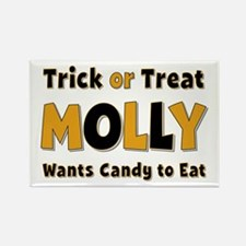 Molly Trick or Treat Rectangle Magnet