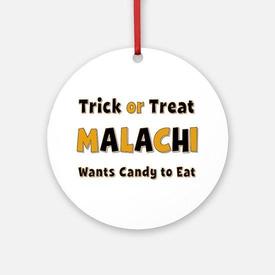 Malachi Trick or Treat Round Ornament