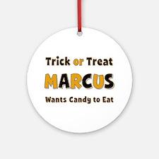 Marcus Trick or Treat Round Ornament
