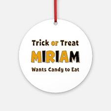Miriam Trick or Treat Round Ornament