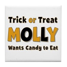 Molly Trick or Treat Tile Coaster