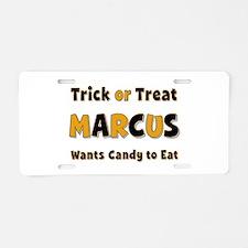 Marcus Trick or Treat Aluminum License Plate