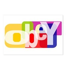 Obey The Postcards (Package of 8)