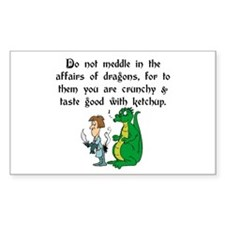 The Affairs of Dragons Rectangle Decal