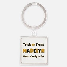 Madelyn Trick or Treat Square Keychain