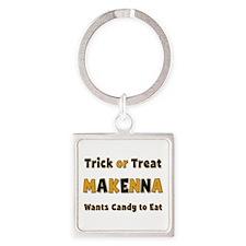 Makenna Trick or Treat Square Keychain