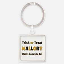 Mallory Trick or Treat Square Keychain