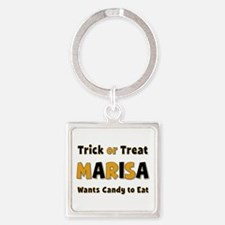 Marisa Trick or Treat Square Keychain