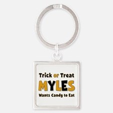 Myles Trick or Treat Square Keychain