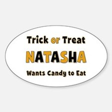 Natasha Trick or Treat Oval Decal