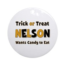 Nelson Trick or Treat Round Ornament