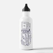 Vintage Sketchy Rollei Water Bottle