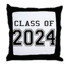 Class of 2024 Throw Pillow