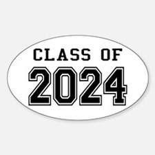 Class of 2024 Sticker (Oval)
