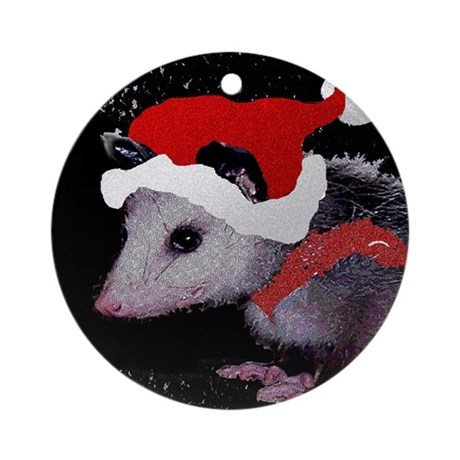 Possum Santa Ornament (Round)