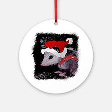 Possum Santa Ornament (Round)