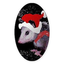 Possum Santa Oval Decal