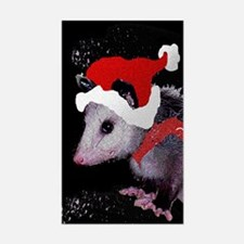 Possum Santa Rectangle Decal