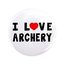 "I Love Archery 3.5"" Button"