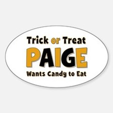 Paige Trick or Treat Oval Decal