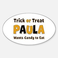 Paula Trick or Treat Oval Decal