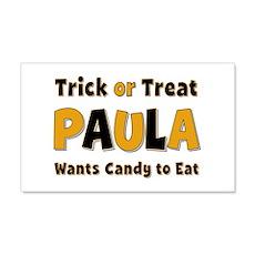 Paula Trick or Treat 20x12 Wall Peel